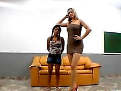 Petite Brazilian Abused By Some Big Feet