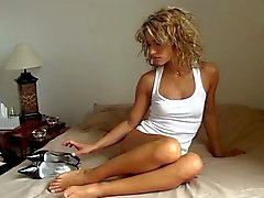 Her white cotton panties