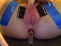My kinky solo with Kitchen supplies