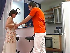 Mature Christina and young guy 7