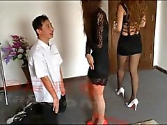 Chinese ballbusting girls