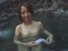 Tomoe Hinatsu sucks cock and gets pool fuck