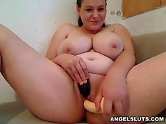Charming Huge Boobs Russian Fucks Her Sweet Vagina For You