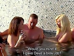 Couples get in the pool with swingers in XXX reality show