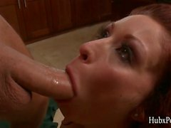 HubxPorn Houston in the kitchen and husband play sex games