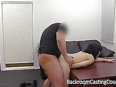 Cutesy Brunette Hair Givs a Great Blowie and Swallows Cum