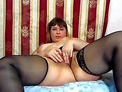 fatty Russian girl masturbates)