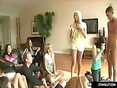 girls learn at blowjob party