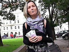Eurobabe Blanka public sex and facial