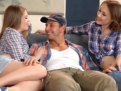 Alessandra Jane and Macy May are taking part in threesome