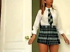 Slutty schoolgirl Molly gets fucked hard