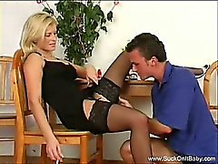 Smoking Blonde Gives Best Blowjob