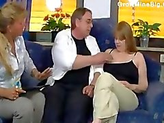 Mature fatty fucked from behind in office