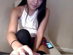 Cute Asian Teen fingering her tight shaved pussy, visit her live - asianslutcams.club