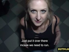 Big tits amateur public sex and cum on tits