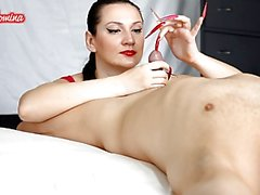 Red and Pink Nails Cook Jerking Insertion