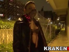 Krakenhot - Cleo Gold in an outdoor submission xxx video