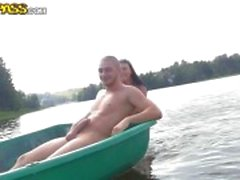 On boat with three cocks