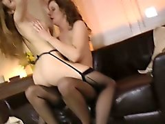 Teens in stockings fucked
