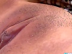 Asian babe Rin finger play with her pinkish