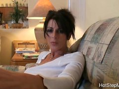 Hard anal fuck with big tittied milf stepmom