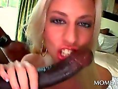 Blonde hooker having hardcore anal sex with black stud