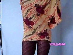 Polliana-Gown and pantyhose