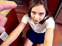 Spinner teen Lucy Doll takes her spanking like a good girl
