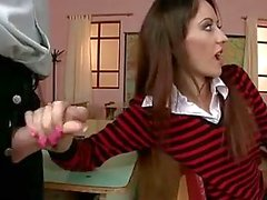 Nice schoolgirl DP and DAP