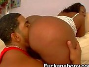 Big Booty Afro Ass Licked And Blowing