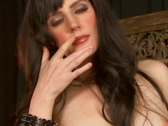 Big titted brunette Samantha Bentley loves solo action