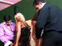 Sensational babes get drilled in hardcore fashion