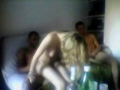 Amateur Blonde Wife Threesome