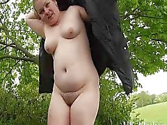 Fat amateur flashers outdoor exhibitionism
