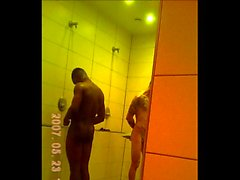 Gym showers caught two hot blacks and white