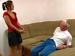 Pure family sex: grandfather and granddaughter again