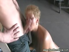 pipe, étudiant, milf, bj, mature