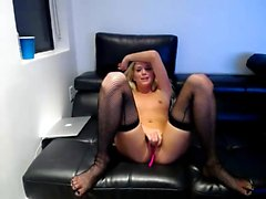 Giant boobed blonde milf inside stockings and the garter