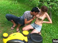 Cute babe pleasures her new boss
