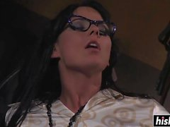 Gorgeous secretary fucks in the office