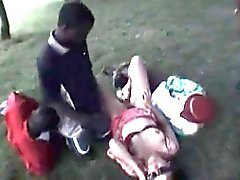German Wife Gangbanged In The Park