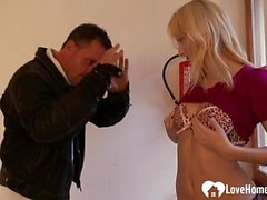 Blonde woman is quite cum thirsty and hot