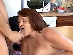 Fat Granny Having Sex In The Kitchen