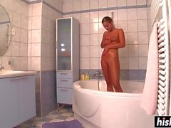Hot shower fucking with Amirah Adara
