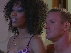 Interracial foursome with Alektra Blue and Misty Stone