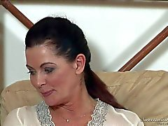 Busty mature brunette Magdalene St Michaels has Lesbian experience