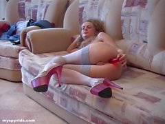 Horny Russian Blonde Down To Fuck