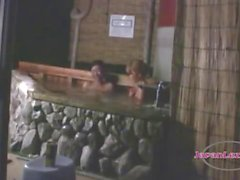 Asian Girl Getting Her Pussy Fingered Patting Outside In The Pool At Night
