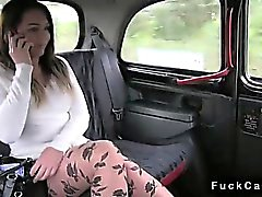 Hot ass brunette fucked in public fake taxi