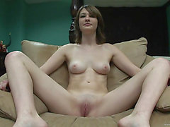 Striking Chick Receives Stripped For A Porn Dilettante Casting